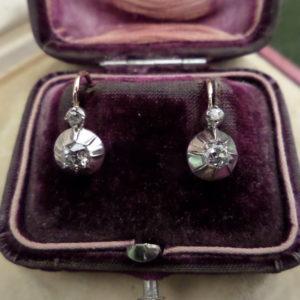 Brilles antik arany fülbevaló pár