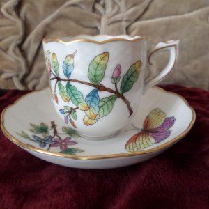 Queen Victoria Herend antique coffee cup